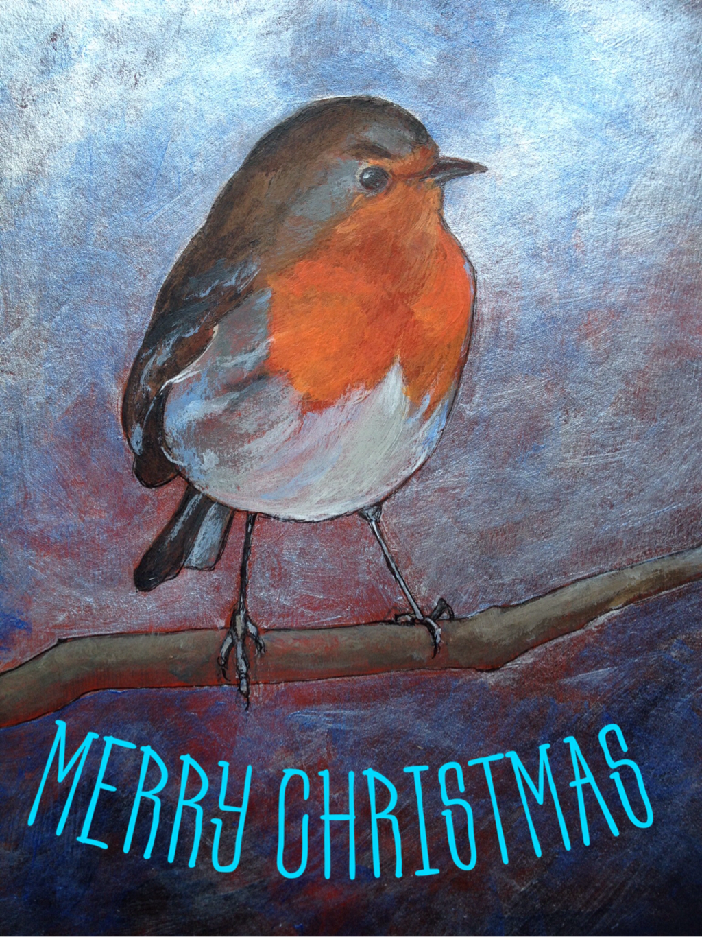 Picture Christmas card Robin Wales
